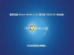 番茄花园Ghost Win8.1 x32位 稳定装机版V2016年10月(自动激活)